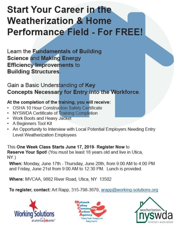 Jump Start Your Career In The Weatherization Home Performance Field For Free Working Solutions