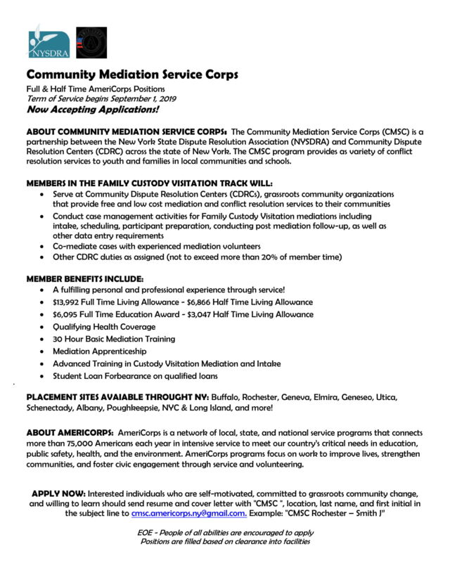 AmeriCorps Member Positions at Empowered Pathways | Working