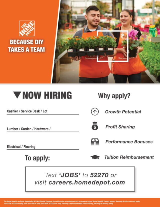 Home Depot in New Hartford is Hiring | Working Solutions